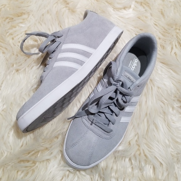 Nwt Adidas Neo Gray Suede Low Top